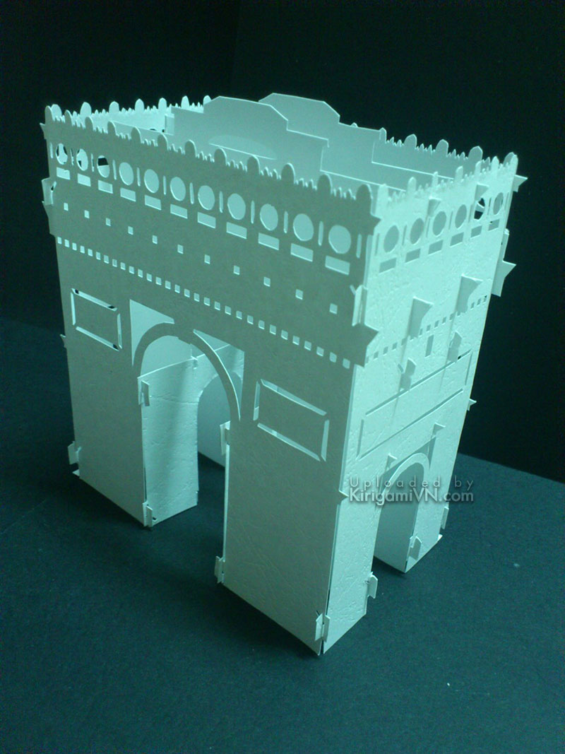 The Arc de Triomphe Pattern Preview KirigamiVN.com 1