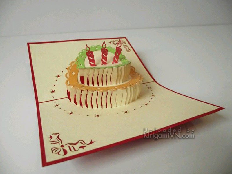 Banh kem - Birthday Cake Pattern - KirigamiVN preview 1