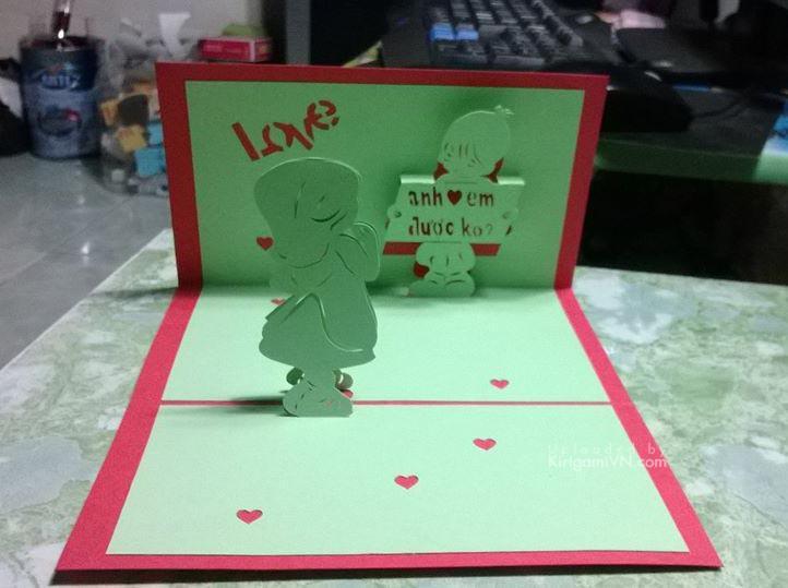 (Thiệp 3D) Anh yêu em được không