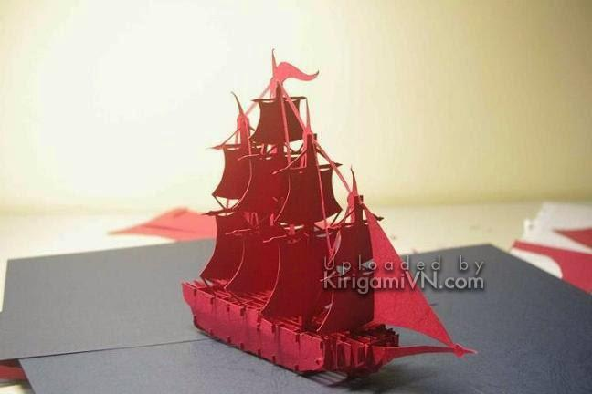 Sailboat - Thuyền version 1 pattern by TienPhuong.