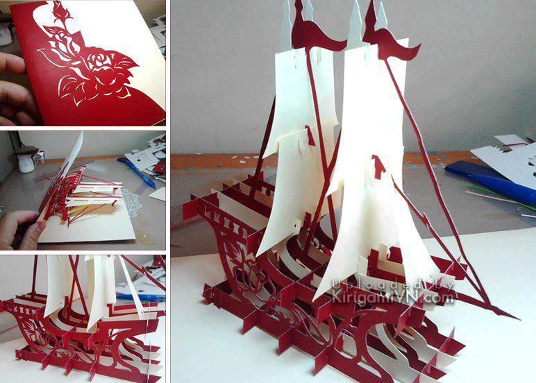Sailboat - Thuyền version 2 pattern by TienPhuong.