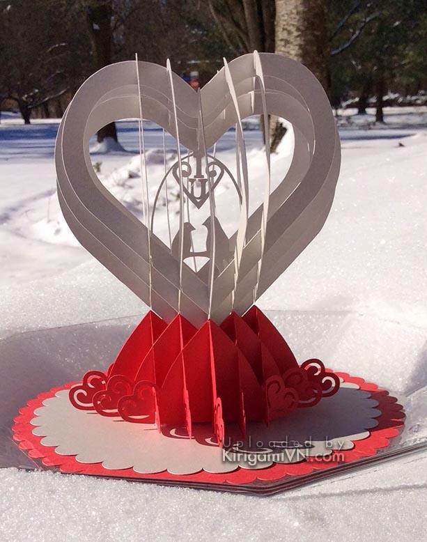 Valentine pop-up card pattern