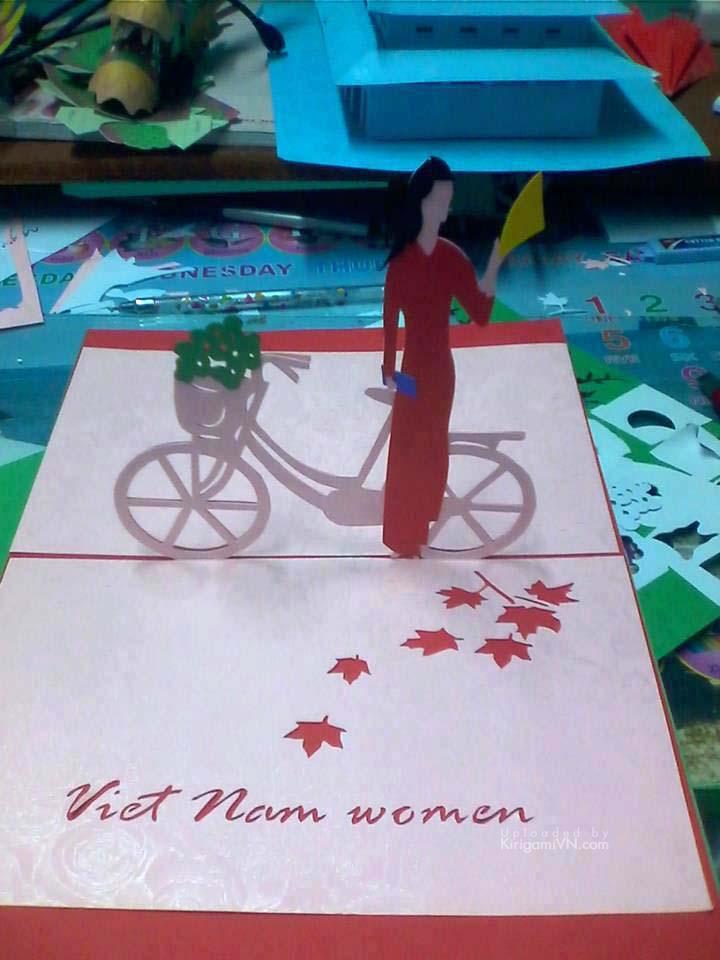 Xe đạp áo dài version 2 pattern